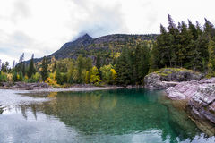 Pristine glacial river flow Stock Photos