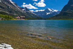 Pristine lake in Rockies Royalty Free Stock Photos