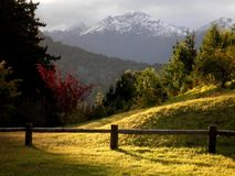 Pristine Mountain. Perfect view of a pristine mountain in Patagonia Stock Photo