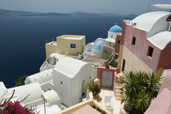 Pristine Oia village Royalty Free Stock Photos
