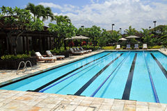 Upscale swimming pool Royalty Free Stock Images