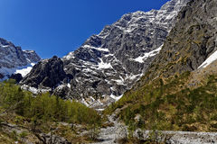 Pristine valley at Watzmann East Face mountain Royalty Free Stock Photography