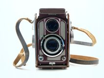 Pristine Vintage Camera. A vintage viewfinder camera in pristine condition Royalty Free Stock Images