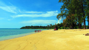 Pristine Wandoor Beach. On a sunny day, Port Blair, Andaman and Nicobar Islands, India, Asia Royalty Free Stock Photography