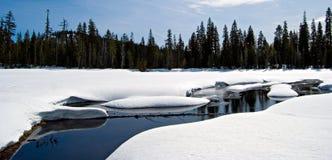 Pristine Winter Lake Stock Photo