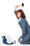 Priter de haine de femme d'affaires image libre de droits
