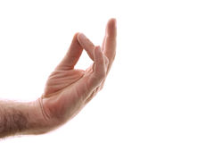 Prithivi mudra kundalini position Stock Photo
