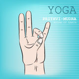 Prithvi-Mudra Stock Photography