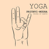 Prithvi-Mudra Royalty Free Stock Images