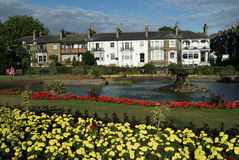 Prittlewell Square Gardens, Southend-on-Sea, Essex. Colourful gardens in a seaside town in England Royalty Free Stock Photos