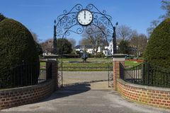 Prittlewell Square in Southend-on-Sea. The entrance to the beautiful Prittlewell Square park in Southend-on-Sea, Essex Royalty Free Stock Photography