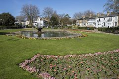 Prittlewell Square in Southend-on-Sea. The entrance to the beautiful Prittlewell Square park in Southend-on-Sea, Essex Stock Photography