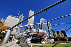 Pritzker Pavilion in Chicago Millennium park Stock Photography