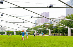 Pritzker Pavilionin Millennium Park at Chicago downtown. Royalty Free Stock Photo