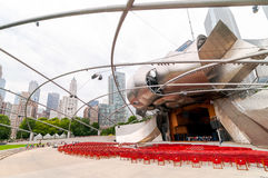 Pritzker Pavilionin Millennium Park at Chicago downtown. Royalty Free Stock Image