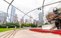 Pritzker Pavilionin Millennium Park at Chicago downtown. Royalty Free Stock Photography