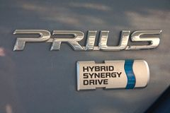 Prius - hybrid car Stock Photos