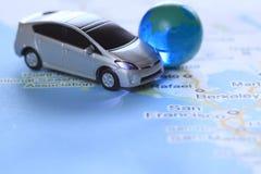 Prius no mapa Foto de Stock