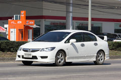 Privé auto, Honda Civic Op weg nr 1001 Royalty-vrije Stock Foto's