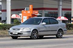 Privé auto, Honda Civic Op weg nr 1001 Stock Foto's
