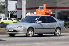 Privé auto, Honda Civic Op weg nr 1001 Royalty-vrije Stock Afbeeldingen