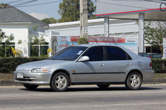 Privé auto, Honda Civic Op weg nr 1001 Stock Afbeelding