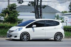 Privé auto, Honda Jazz Hybrid Royalty-vrije Stock Foto
