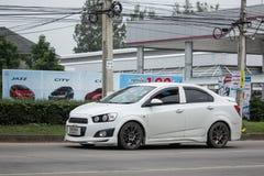 Privé auto, Kia Rio, Product van Korea Stock Fotografie