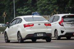 Privé auto, Kia Rio, Product van Korea Royalty-vrije Stock Fotografie