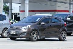 Privé auto, Kia Rio, Product van Korea Royalty-vrije Stock Foto