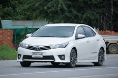 Privé auto, Toyota Corolla Altis royalty-vrije stock afbeelding