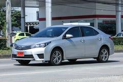 Privé auto, Toyota Corolla Altis stock afbeelding