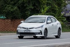 Privé auto, Toyota Corolla Altis Elfde generatie royalty-vrije stock afbeeldingen