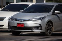 Privé auto, Toyota Corolla Altis Elfde generatie stock afbeelding