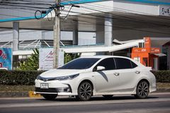 Privé auto, Toyota Corolla Altis Elfde generatie stock foto's
