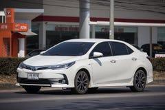 Privé auto, Toyota Corolla Altis Elfde generatie stock afbeeldingen