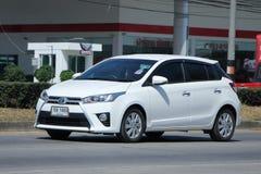 Privé auto, Toyota Yaris Royalty-vrije Stock Afbeelding