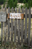 Privé-bezit Stock Foto