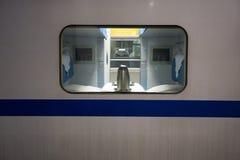 Privé compartiment van een Chinese snelle Trein Stock Foto