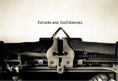privé confidentiel photos stock