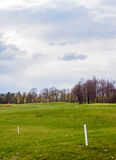 Privé golfgebied stock fotografie