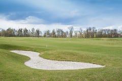 Privé golfgebied royalty-vrije stock afbeelding