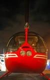 Privé Helikopter die bij Jachthaven wordt gehouden Royalty-vrije Stock Afbeeldingen
