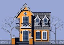 Privé huis royalty-vrije illustratie