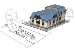 Privé Huis vector illustratie