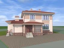 Privé huis plattelandshuisje Het dak van de tegel royalty-vrije stock afbeeldingen