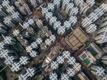 Privé huisvesting van Hong Kong stock foto