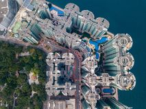 Privé huisvesting van Hong Kong stock afbeelding