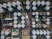 Privé huisvesting van Hong Kong royalty-vrije stock afbeelding