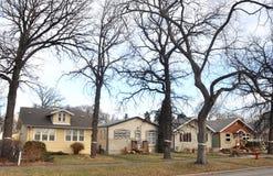 Privé huizen in Winnipeg Royalty-vrije Stock Afbeeldingen